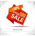 Super Big Sale Red paper origami banner Sale vector image