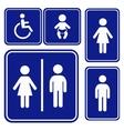 toilette sign vector image