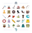 vikings weapons symbols and other web icon in vector image