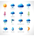 Weather Polygonal Icons vector image