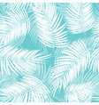 palm leaf seamless pattern background vector image