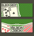 banners of black jack for text vector image