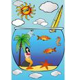 Beach holidays vector image vector image