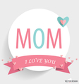 Happy Motherss Day paper with ribbon and heart vector image vector image