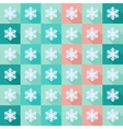 Seamless pattern with flat snowflakes vector image