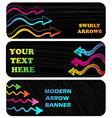 Horizontal banners with arrows vector image vector image