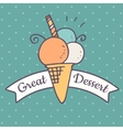 Ice cream doodle icon vector image