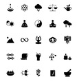 Zen concept icons on white background vector image