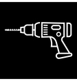 electric drill vector image vector image