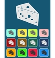 Cheese Icon with color variations vector image