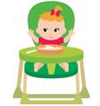 child eats vector image