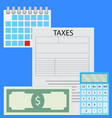 counting taxes vector image