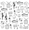 flat music hand draw in doodles vector image