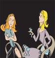girlfriends vector image