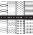 hand drawing pattern set vector image