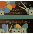 happy easter background eggs vector image