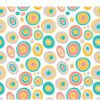 Retro seamless pattern geometric background vector image