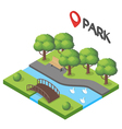 isometric of park vector image
