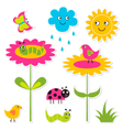 Nature design elements set vector image vector image