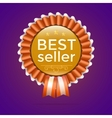 best seller gold sign label template vector image