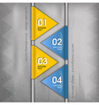 business triangles blue yellow with text vector image vector image