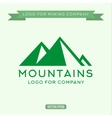 Logo abstract mountain vector image