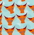 Bull Seamless pattern with funny cute animal face vector image