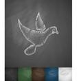 dove icon Hand drawn vector image