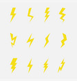lightning set vector image