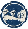Mount Rushmore vector image