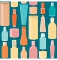 Seamless pattern with cosmetic bottles vector image