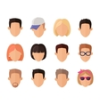 Set of Private Avatars vector image