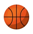 silhouette color with basketball ball to front vector image