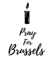 Terrorist attack in Brussels Explosions in vector image