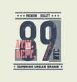 vintage typography vector image