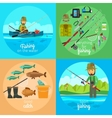 Fishing concept vector image