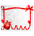 Holiday ribbon background vector image vector image