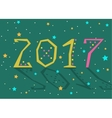 2017 background Calendar template vector image
