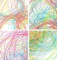 Colorful lines background for your design vector image vector image