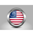 American Betsy Ross Flag Metal and Glass Round Ico