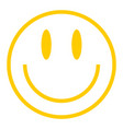 yellow smiley icon smiling face vector image