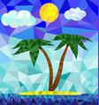 polygon island image vector image