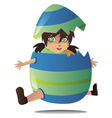jumping egg vector image vector image