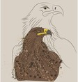 brown eagle vector image