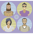 Set of four cartoon avatars - men 01 vector image