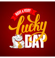 Lucky Day vector image