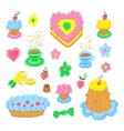 Cartoon food set vector image