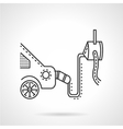 Car emission control device line icon vector image