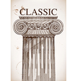 Classical column background vector image