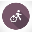 man running out of time icon vector image